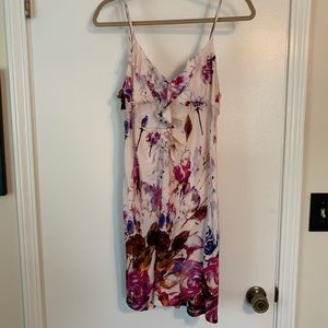 Anthropologie painted floral chemise dress